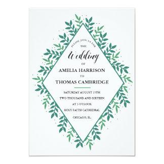 Evergreen Wedding Invitation