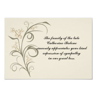 Everlasting - Bereavement Thank You Notecard