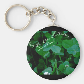 Everlasting Good Luck - Four Leaf Clover Products Key Ring