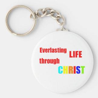 Everlasting Life through CHRIST Keychains