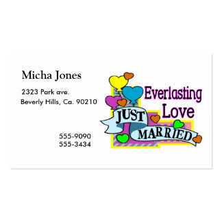 Everlasting Love Just Married Heart Balloons Pack Of Standard Business Cards