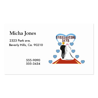 Everlasting Love Wedding Double-Sided Standard Business Cards (Pack Of 100)