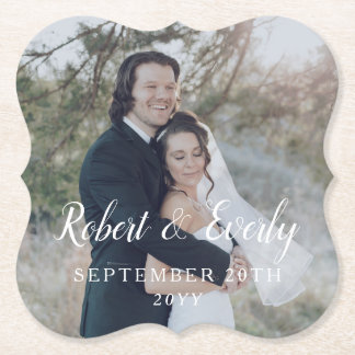 Everly Wedding Paper Coaster