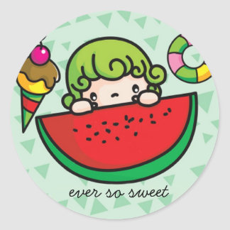 eversosweet copy, ever so sweet round sticker