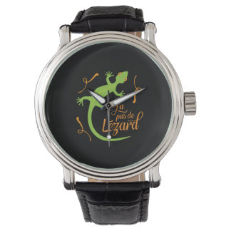 Everthing's Cool French Teacher Funny Lizard Wrist Watches