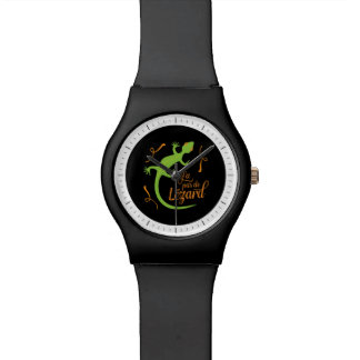 Everthing's Cool French Teacher Funny Lizard Wristwatches