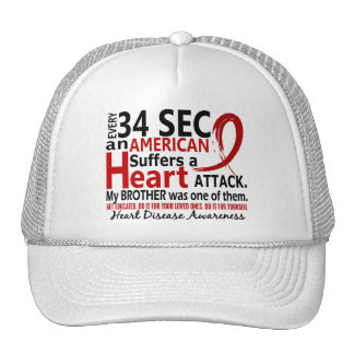 Every 34 Seconds Brother Heart Disease / Attack Trucker Hats