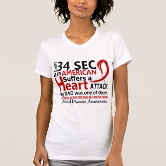 Every 34 Seconds Dad Heart Disease / Attack Tee Shirts
