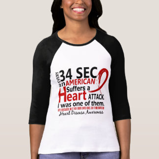 Every 34 Seconds Me Heart Disease / Attack Tee Shirts