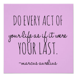 Every Act Of Life Inspirational Quote Black White Card