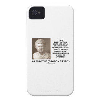 Every Action Must Due One Seven Causes Aristotle iPhone 4 Case