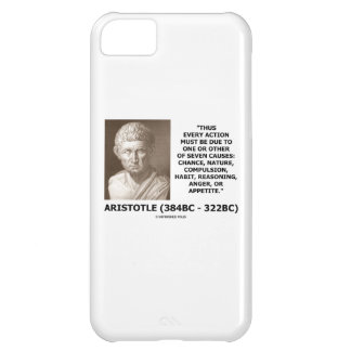 Every Action Must Due One Seven Causes Aristotle iPhone 5C Case