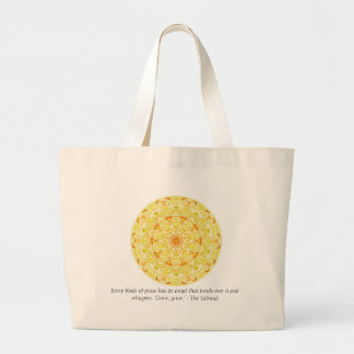 Every blade of grass has its angel that bends..... jumbo tote bag