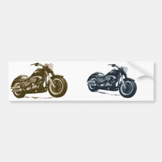Every Boy loves a Fat Blue American Motorcycle Bumper Sticker