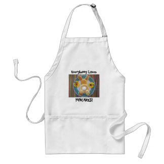 Every Bunny Loves Pancakes Humorous Chef's Apron
