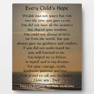 Every Child's Hope Poetry Plaque