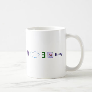 Every cloud has a silver lining coffee mug