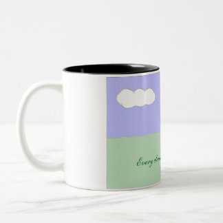 Every cloud has a silver lining Two-Tone coffee mug