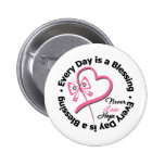 Every Day is a Blessing - Hope Breast Cancer 6 Cm Round Badge