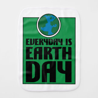 Every Day is Earth Day Burp Cloth