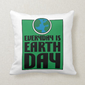 Every Day is Earth Day Throw Cushion