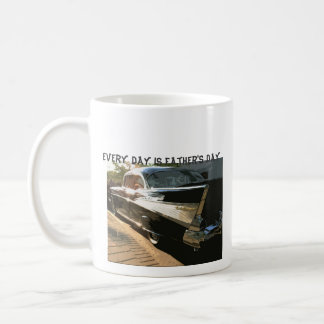Every Day is Father's Day, Chevy Bel air, black Coffee Mug