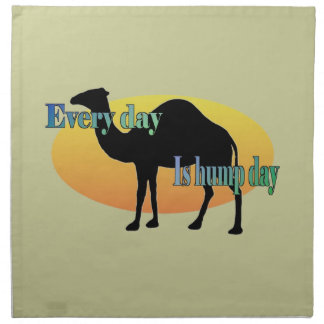 Every Day is Hump Day Printed Napkins