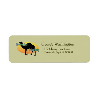 Every Day is Hump Day Return Address Label
