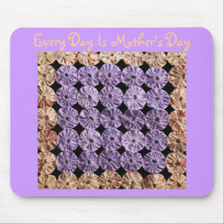 Every Day Is Mother's Day, Bottle Top quilt, mauve Mouse Pad