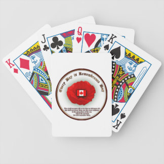 Every Day Is Remembrance Day Cards Bicycle Poker Deck