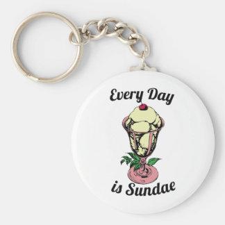 Every Day is Sundae Key Chain