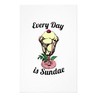 Every Day is Sundae Stationery Design