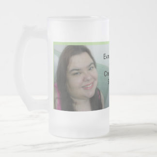 Every Day with You is a Holiday Frosted Glass Beer Mug