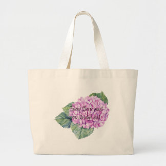 Every flower must grow through dirt large tote bag