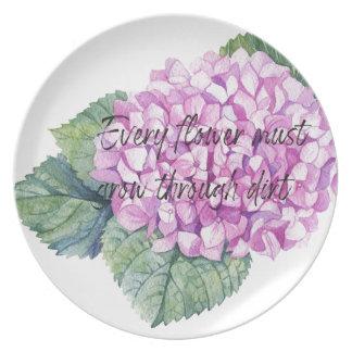 Every flower must grow through dirt plate