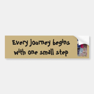Every journey bumper sticker