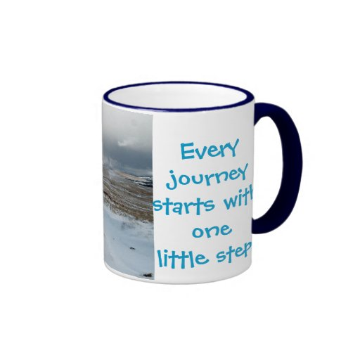 Every journey starts.............. mugs