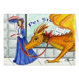 Every Lady needs a Dragon Stationery Note Card