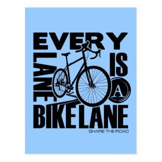 Every Lane A Bike Lane Postcard