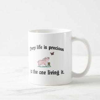 Every Life is precious! Vegan Coffee Mug