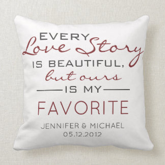 Every Love Story Couples Photo Cushion