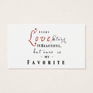 Every Love Story is Beautiful Dating Agency Card