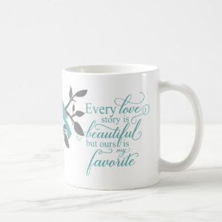 Every Love Story is Beautiful typography Coffee Mug