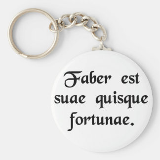 Every man is the artisan of his own fortune. basic round button key ring