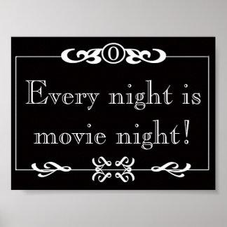 Every Night Is Movie Night Poster