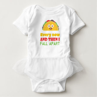 Every Now And Then I Fall Apart Funny Taco Tuesday Baby Bodysuit