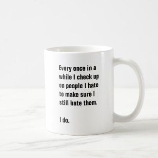 Every once in a while I check up on people I hate Coffee Mug