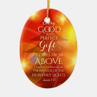 Every Perfect Gift comes from Above, Personalized Ceramic Ornament
