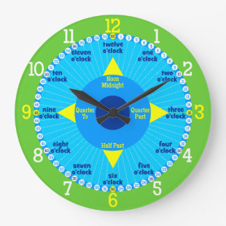 Every Second Counts - Blue & Green Learning Clock