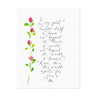 Every Spirit inspirational quote typography Canvas Print